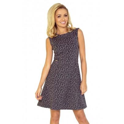 Trendovní dámské šaty Vedette - tmavě šedé 137-3