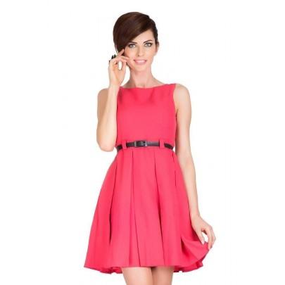Trendovní dámské šaty Jessica - korálové v6-8