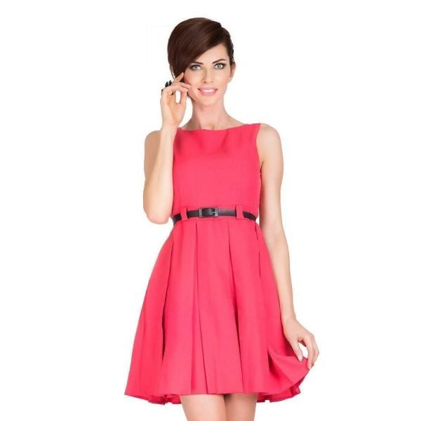 Trendovní dámské šaty Jessica - korálové 6-8
