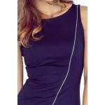 Asymetrické dámské šaty Cindy - tmavě modré MM 004-2