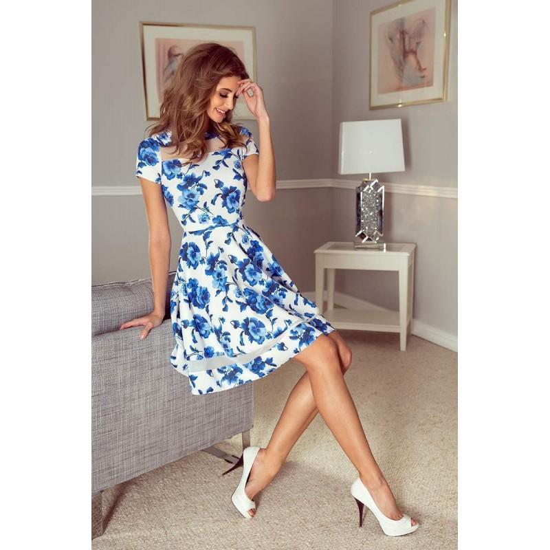 -15% Stylové dámské šaty Diane - bílé s květinami vMM 003-3 2d6434d42df
