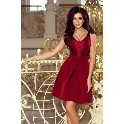 Dámské bordové mini šaty PIETRA v208-3