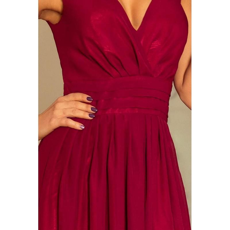 ace0caf0442 ... Krásné společenské šaty Bona - burgundy 166-3 ...