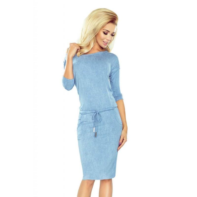 2b47cc1d21d2 Světle modré dámské šaty v riflové stylu 13-80
