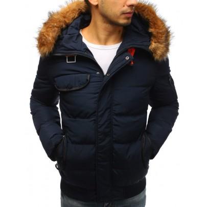 Zajímavá pánská zimní bunda - tmavě modrá tx2525