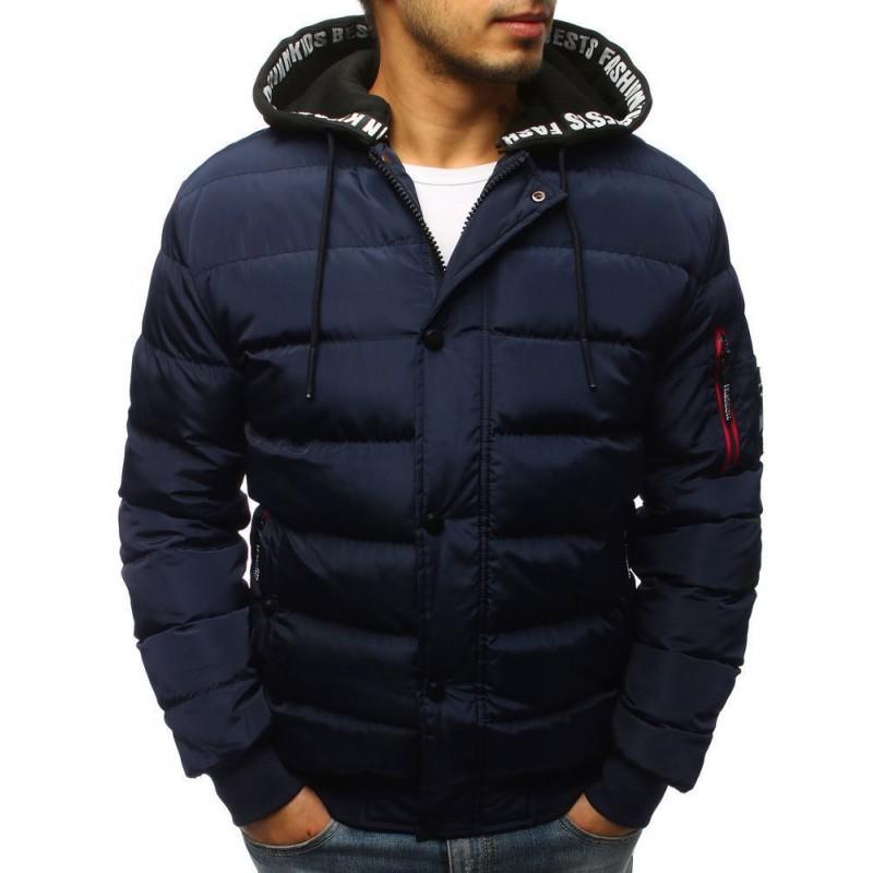 863b5c3a1543 -15% Trendová pánská zimní bunda - tmavě modrá vtx2513