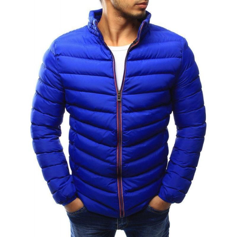 fe0c185b8ecf Trendová přechodná pánská bunda - modrá tx1822