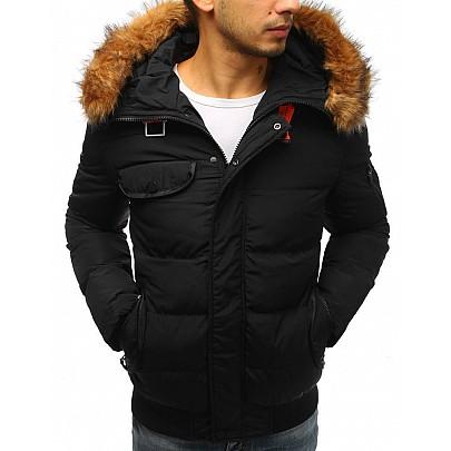 Zajímavá pánská zimní bunda - černá tx2526
