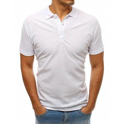 Pohodlné pánské bílé polo tričko px0176