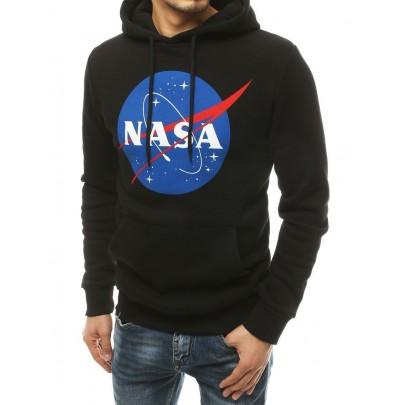 Pánská stylová černá mikina s nápisem NASA vbx4770