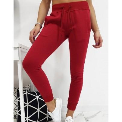 Dámské teplákové kalhoty bordové vuy0206