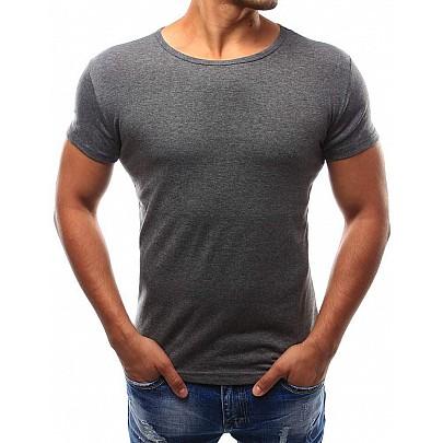 Klasické pánské tričko - tmavě šedé rx2576 327277ba01