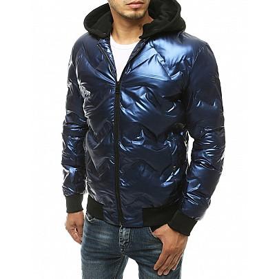 Zajímavá pánská modrá bunda s kapucí vtx3440
