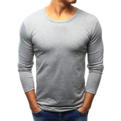 Pánské tričko šedé s dlouhým rukávem vlx0422