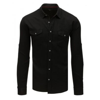 Elegantní černá pánská košile dx1756