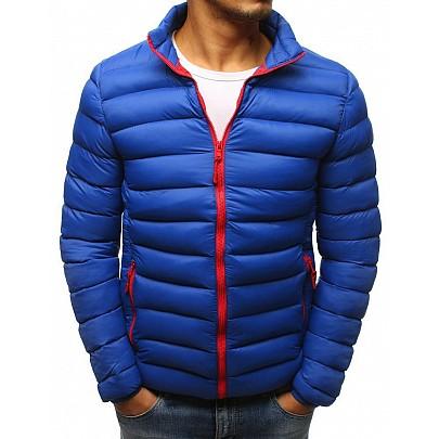 Moderní pánská zimní bunda - modrá tx2425