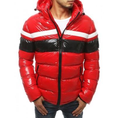 Pánská červená zimní bunda s kapucí vtx3421