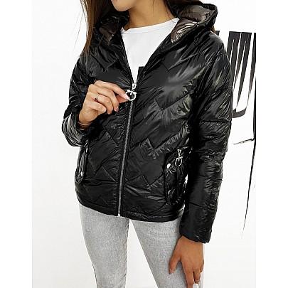 Černá dámská přechodná bunda ty1273