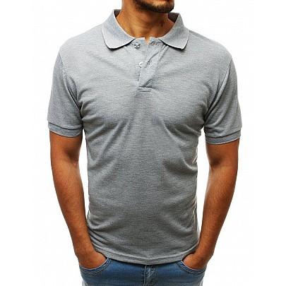 Světlešedé pánské polo tričko vpx0203