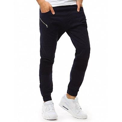 Pánské modré trendy joggery vux1889