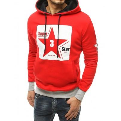 Pánská červená mikina s hvězdou bx4871