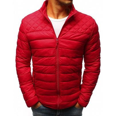 Elegantní prošívaná červená pánská bunda tx2868