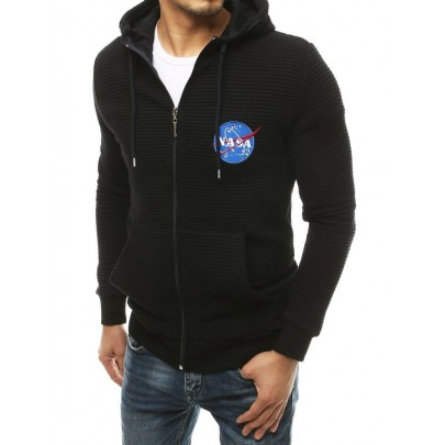 Černá pánská mikina s nápisem NASA vbx4766