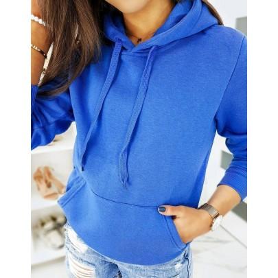 Dámská mikina modrá s kapucí by0321