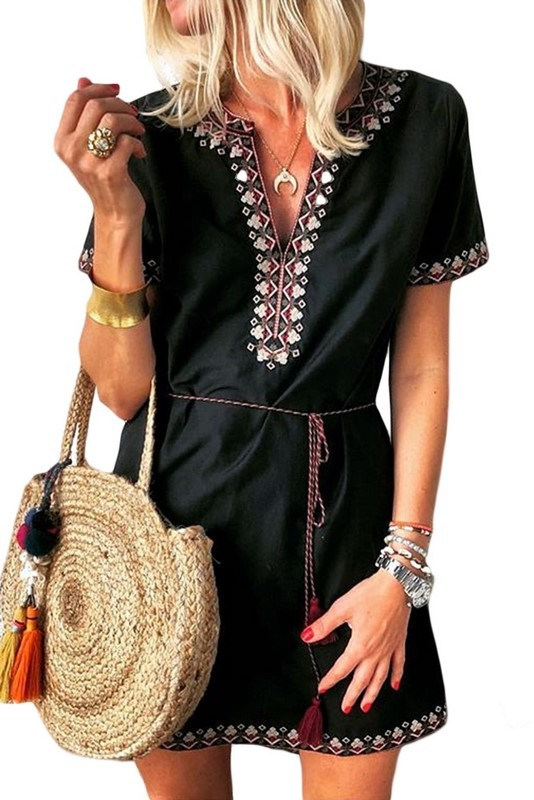 Dámské černé letní šaty CLARINA