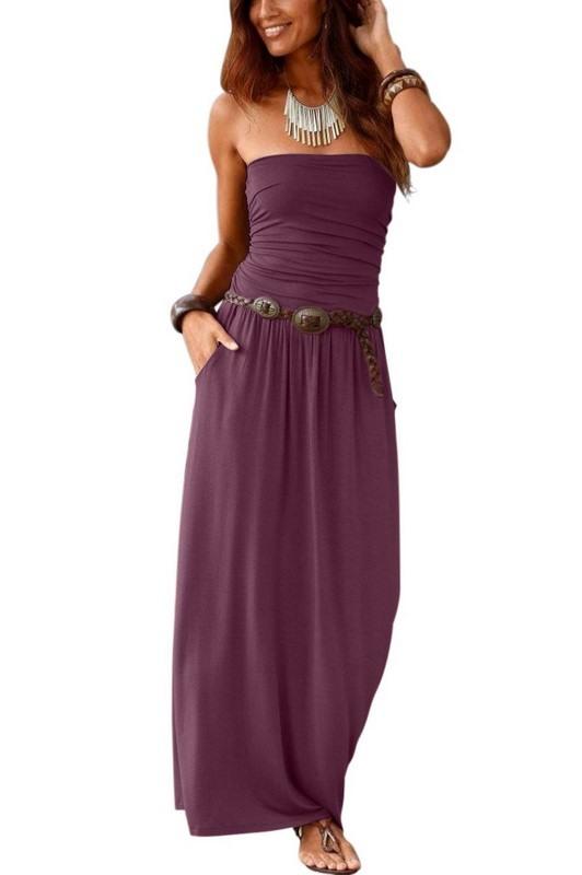 Dámské letní fialové šaty ROSINA