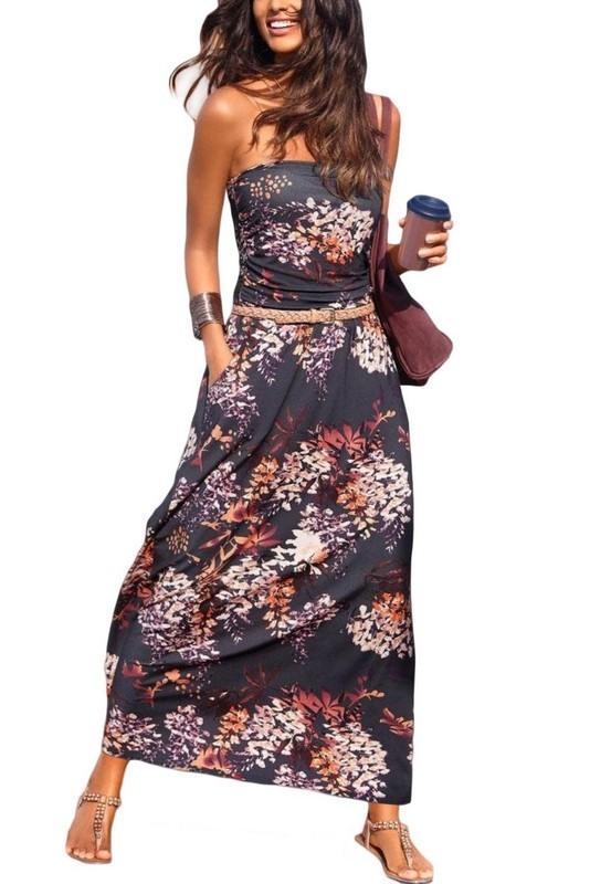 Dámské letní květinové šaty NICIA