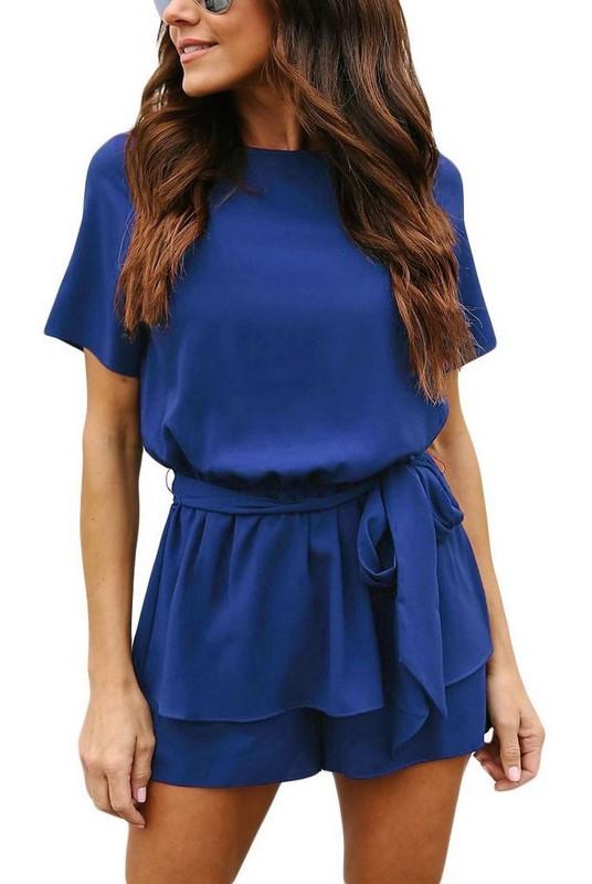 Elegantní modrý dámský overal