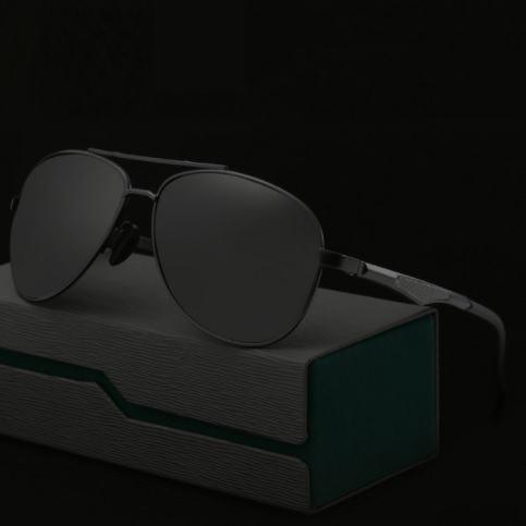 Polarizační sluneční brýle pilotky Aron celé černé