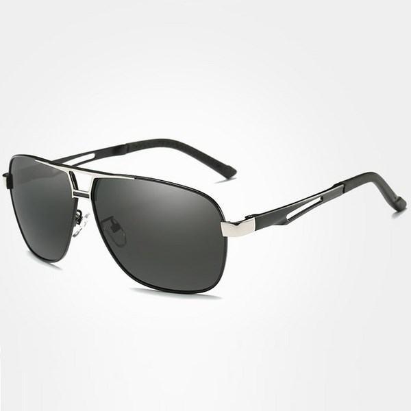 Polarizační sluneční brýle pilotky Mauro stříbrné černé