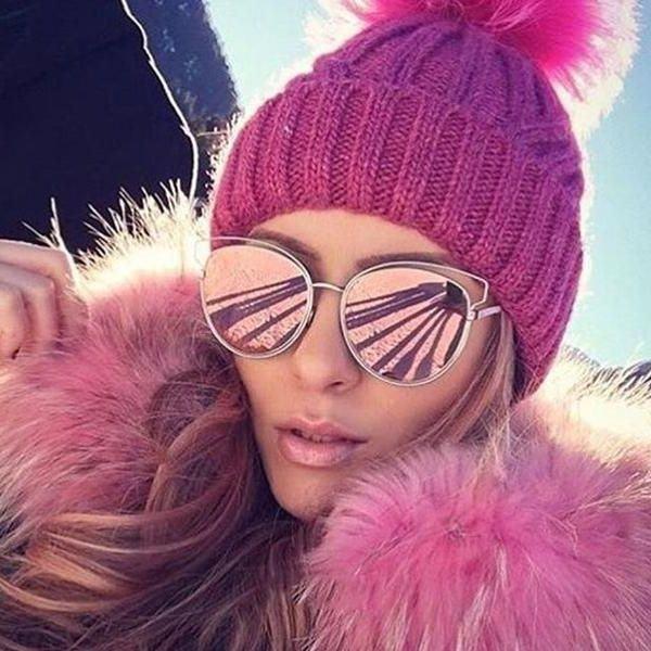 Dámské sluneční brýle Vivien růžové zrcadlovky