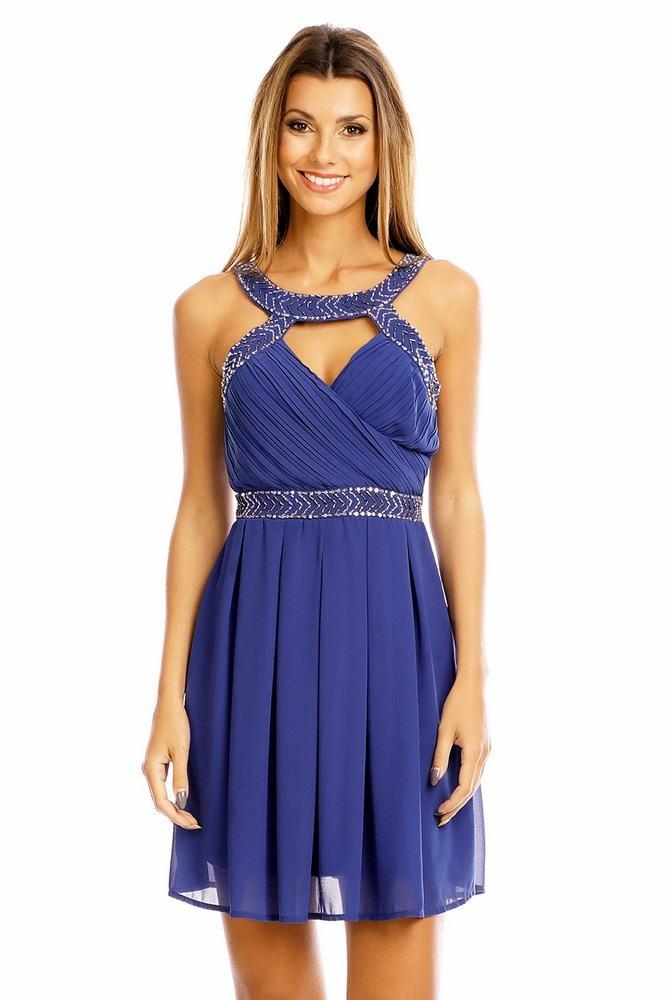 Dámske šaty Hemera modré