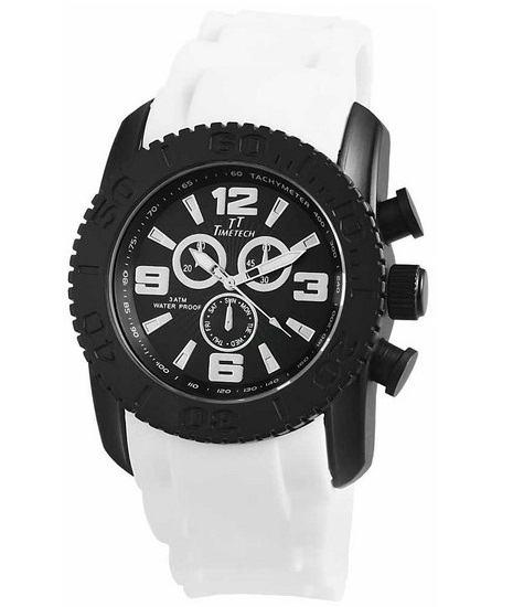 Pánské vodotěsné hodinky TimeTech White BL