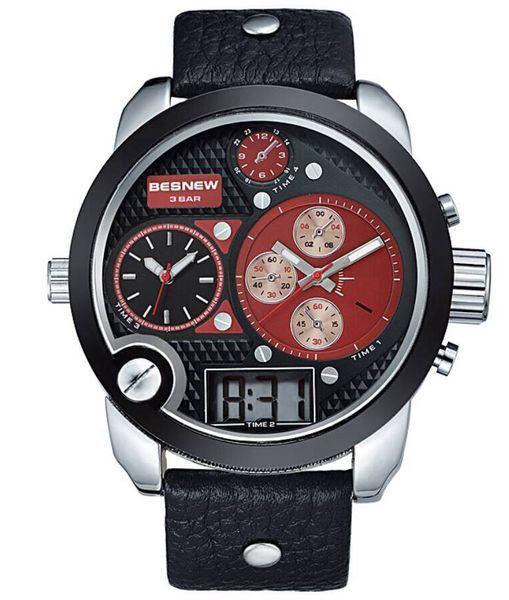 Pánské hodinky TripleZone Digital - červené