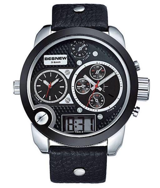Pánské hodinky TripleZone Digital - černé