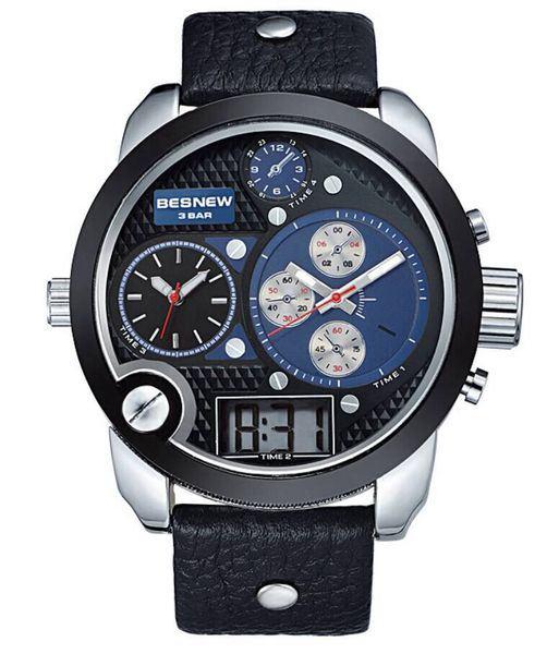 Pánské hodinky TripleZone Digital - modré