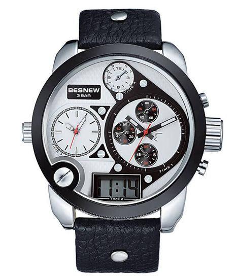 Pánské hodinky TripleZone Digital - bílé