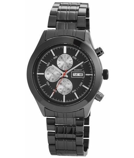 Pánské kovové hodinky Akzent - černé