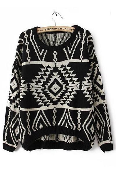 Dámský svetr - černý