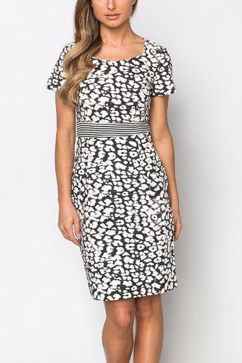 Dámské šaty Jaycee - černobílé