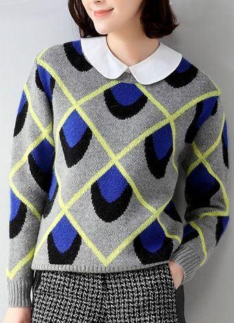 Dámský svetr Aileen - modrý
