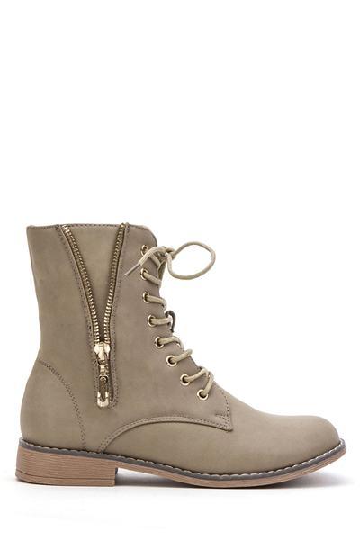 Levně Dámske topánky Boots - khaki