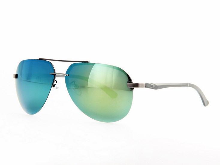 Polarizační sluneční brýle AVIATOR pilotky - stříbrný rám ze