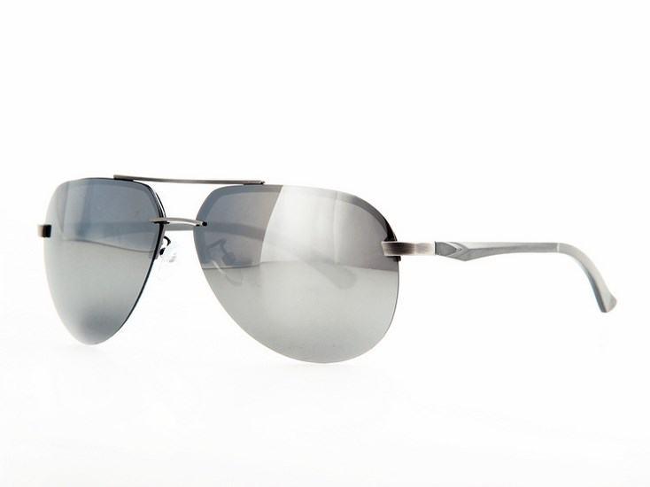 Polarizační sluneční brýle AVIATOR pilotky - stříbrný rám zr