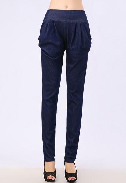 Dámské kalhoty - modré