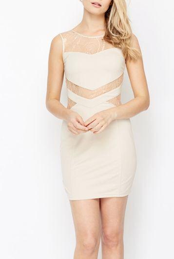 Dámské béžové šaty Brynleigh